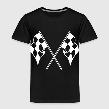 checkered flag - Toddler Premium T-Shirt