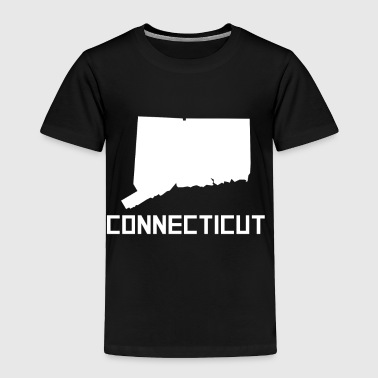 Connecticut State Silhouette - Toddler Premium T-Shirt