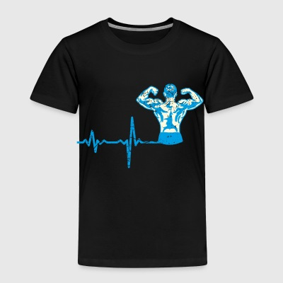 shirt gift heartbeat fitness body building - Toddler Premium T-Shirt
