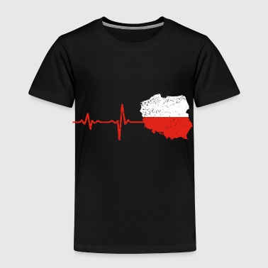 Heartbeat Poland gift - Toddler Premium T-Shirt