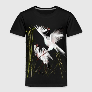 Two Cranes In Bamboo - Toddler Premium T-Shirt
