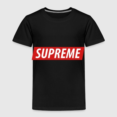 ''Supreme'' with custom background color - Toddler Premium T-Shirt
