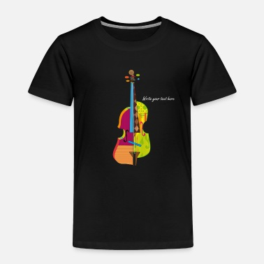 Young A colorful violin  - Toddler Premium T-Shirt