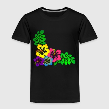 Hawaiian Flowers - Toddler Premium T-Shirt