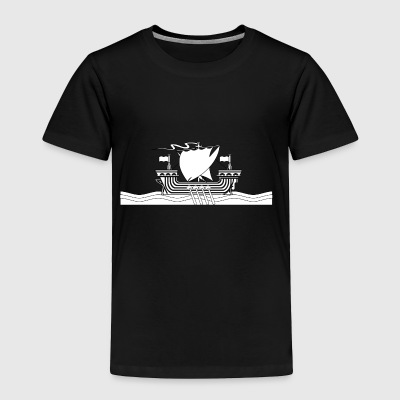 vikings wickinger warrior vikingboat boot45 - Toddler Premium T-Shirt