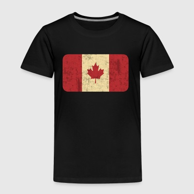 Grungy Flag of Canada - Toddler Premium T-Shirt
