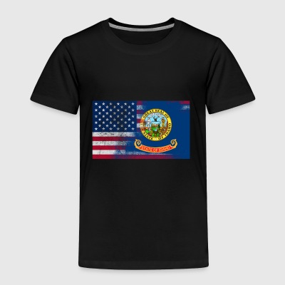 Idaho American Flag Fusion - Toddler Premium T-Shirt