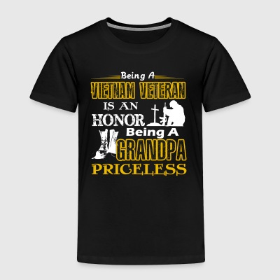 Vietnam Veteran Is An Honor Being A Grandpa Pricel - Toddler Premium T-Shirt