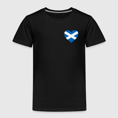 Scotland Flag Shirt Heart - Scottish Shirt - Toddler Premium T-Shirt