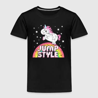 Ironic Jumpstyle Music Festival Party Unicorn - Toddler Premium T-Shirt
