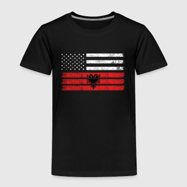 Albanian American Flag - USA Albania Shirt - Toddler Premium T-Shirt