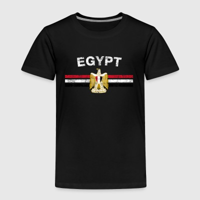 Egyptian Flag Shirt - Egyptian Emblem & Egypt Flag - Toddler Premium T-Shirt