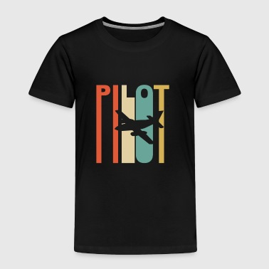 Vintage Pilot Graphic - Toddler Premium T-Shirt