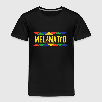 Melanated (Yellow Letters) - Toddler Premium T-Shirt