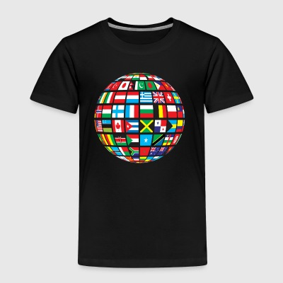 World Flags Design - Toddler Premium T-Shirt