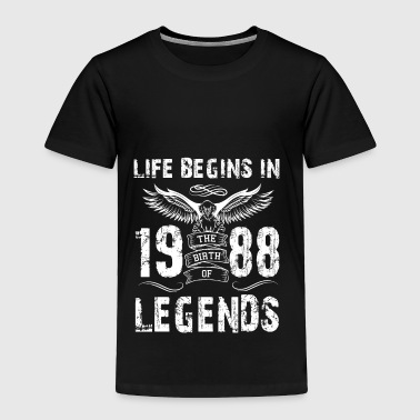 Life Begin In 1988 Legends - Toddler Premium T-Shirt