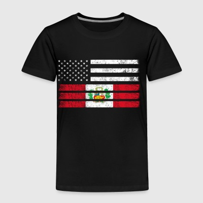 Peruvian American Flag - USA Peru Shirt - Toddler Premium T-Shirt