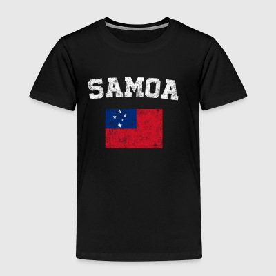 Samoan Flag Shirt - Vintage Samoa T-Shirt - Toddler Premium T-Shirt
