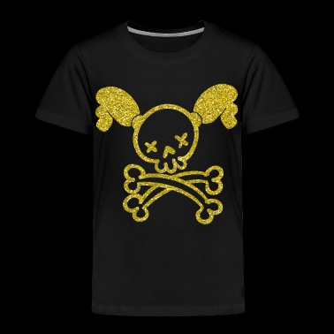 Girl Power Skull - girl woman skull plaits - Toddler Premium T-Shirt