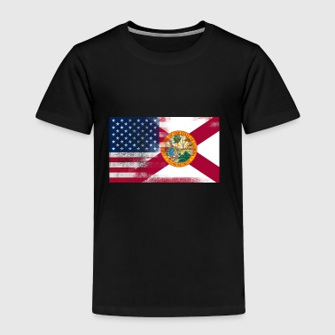 Florida American Flag Fusion - Toddler Premium T-Shirt