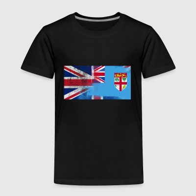 British Fijian Half Fiji Half UK Flag - Toddler Premium T-Shirt