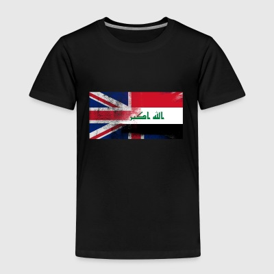 British Iraqi Half Iraq Half UK Flag - Toddler Premium T-Shirt