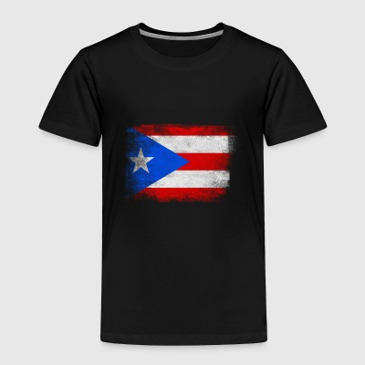Puerto Rico State Flag Distressed Vintage Shirt - Toddler Premium T-Shirt