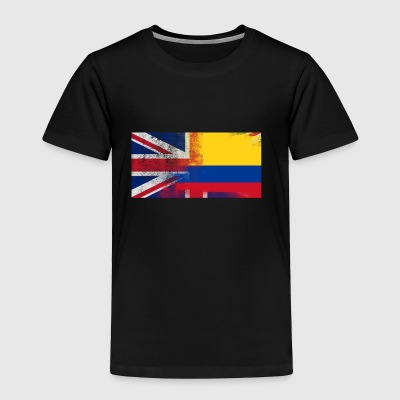 British Colombian Half Colombia Half UK Flag - Toddler Premium T-Shirt