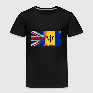British Barbadian Half Barbados Half UK Flag - Toddler Premium T-Shirt
