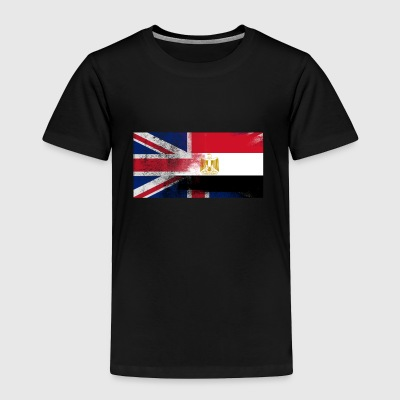 British Egyptian Half Egypt Half UK Flag - Toddler Premium T-Shirt