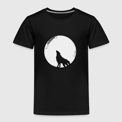 The wolf in the full moon design - Toddler Premium T-Shirt
