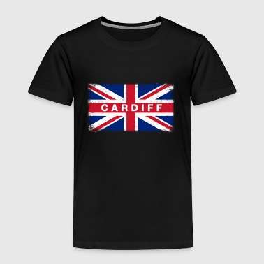 Cardiff Shirt Vintage United Kingdom Flag T-Shirt - Toddler Premium T-Shirt
