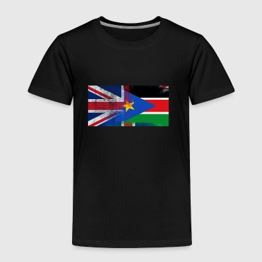 British Sudanese Half South Sudan Half UK Flag - Toddler Premium T-Shirt