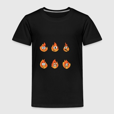 Fire Firefighter Emoticons Gift - Toddler Premium T-Shirt