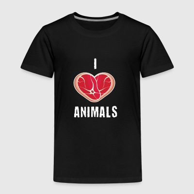 I love animals - Toddler Premium T-Shirt