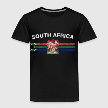 South African Flag Shirt - South African Emblem & - Toddler Premium T-Shirt