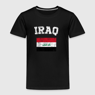 Iraqi Flag Shirt - Vintage Iraq T-Shirt - Toddler Premium T-Shirt