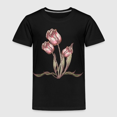 Vintage Tulip flower - Toddler Premium T-Shirt