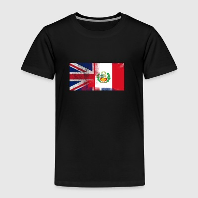 British Peruvian Half Peru Half UK Flag - Toddler Premium T-Shirt