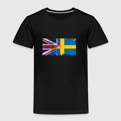 British Swedish Half Sweden Half UK Flag - Toddler Premium T-Shirt
