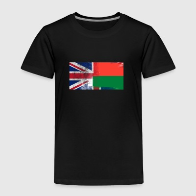 British Malagasy Half Madagascar Half UK Flag - Toddler Premium T-Shirt
