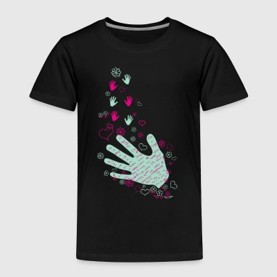 Hands and flowers - Toddler Premium T-Shirt