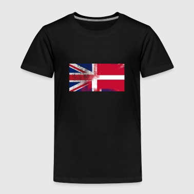 British Danish Half Denmark Half UK Flag - Toddler Premium T-Shirt