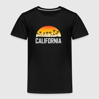 California Sunset And Palm Trees Beach Vacation - Toddler Premium T-Shirt