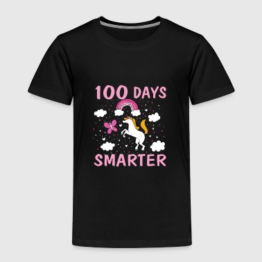 100 Days Smarter Unicorn 100 Days of School T Sh - Toddler Premium T-Shirt