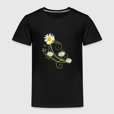 Tendril with Marguerite and daisies - Toddler Premium T-Shirt