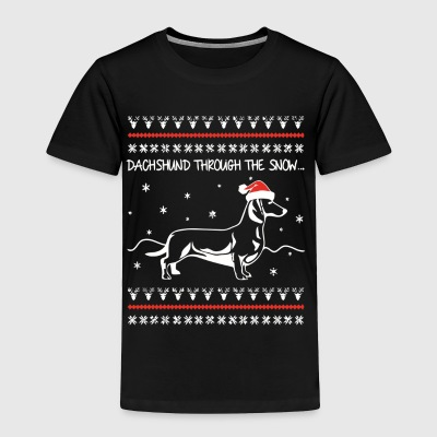 DACHSHUND DOGS X-MAS T-Shirt - Toddler Premium T-Shirt