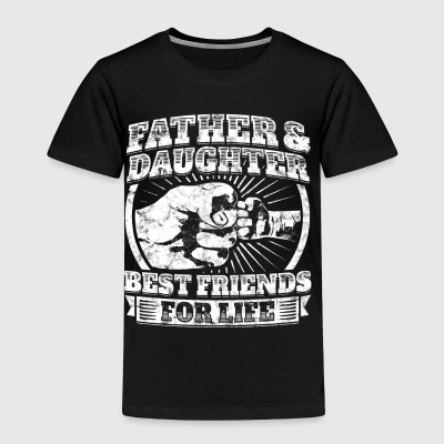 Father And Daughter Gift Family Dad Fist Bump Tee - Toddler Premium T-Shirt