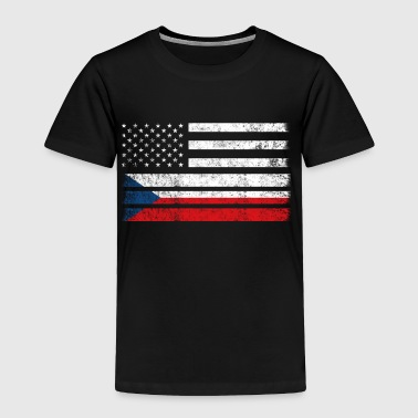 Czech American Flag - USA Czech Republic Shirt - Toddler Premium T-Shirt