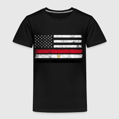 Egyptian American Flag - USA Egypt Shirt - Toddler Premium T-Shirt